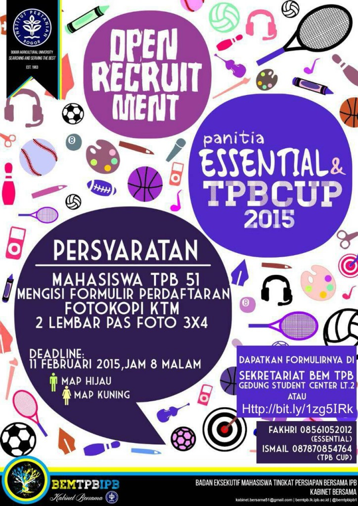 Poster Oprec TPB Cup Essential